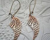 Hot Wings sexy copper earrings
