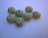 RESERVED FOR SHAMEEN - Disc shaped metal beads