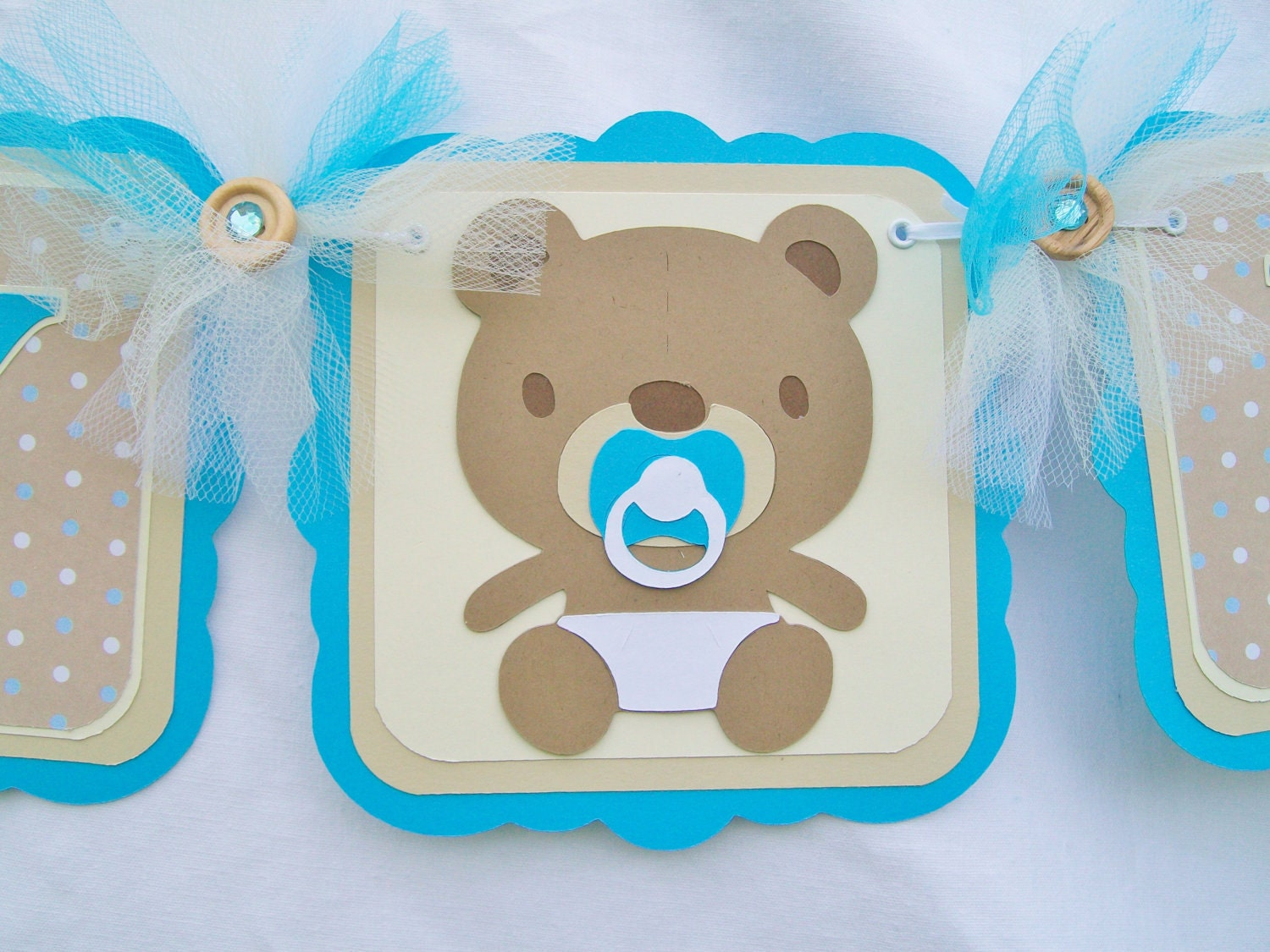 Baby boy teddy bear banner baby shower banner ready to Baby shower banners