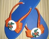 Gator Flip Flops with University of Florida Fabric