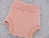RESERVED for Christine - Large - Sew Your Own Wool Interlock Diaper Cover (Soaker) Kit - Orange Spice
