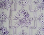 Vintage French Fabric Lilac Roses and Rosebuds Never Used Suitable for Patchwork Quilting Lavender Bags Feedsack Pillow