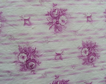 Gorgeous Vintage Fabric Fuschia Pink Rose and Daisies Suitable for patchwork Quilting, lavender bags, pillows Feedsack