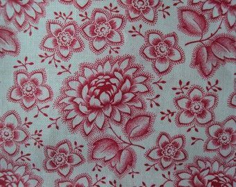 Vintage Fabric Fuschia Pink Chrysanthemums Never Used Suitable for Patchwork Quilting Lavender Bags Feedsack Pillow
