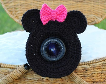 Minnie Mouse Lens Buddy with Squeaker - Made To Order - Photography DSLR Lens Accessory