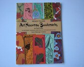 Art Nouveau (30) Bookmarks in Full Color Ready-to-Use Perforated for Easy Detaching Mint unUsed 1982