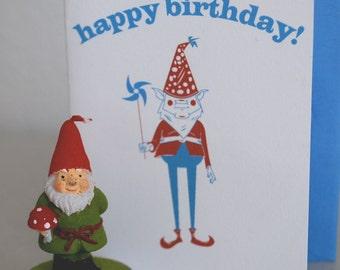 Birthday Gnome (birthday card)