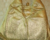SALE Vintage  Gold Lame' Handbag With Coin Purse HL USA Brand