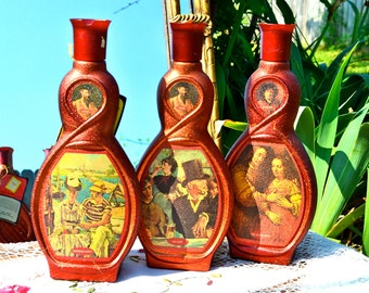 Vintage Masterpiece Manet and Rembrandt Decanters