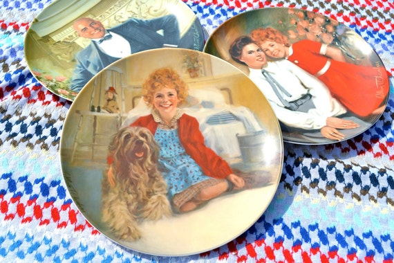 Vintage Orphan Annie Knowles China Plate Collection
