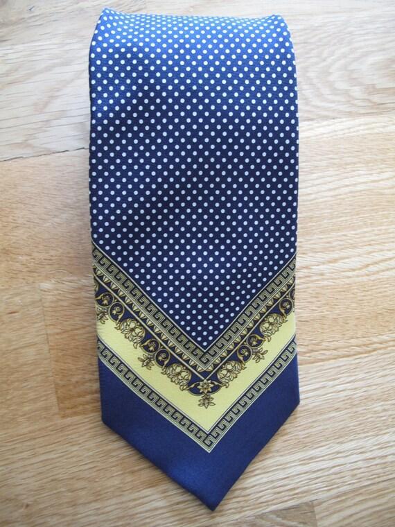 Gianni Versace designer silk necktie  tie  90s dots