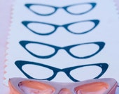 Retro Eyeglasses Rubber Stamp Hand Carved For Card Making Hang Tags Stationary Scrapbooking