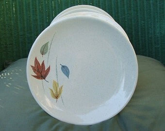 Franciscan Autumn Leaves Plates, Bread Butter Plates, Thanksgiving Dishes, Vintage Franciscan China