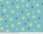 End of Bolt Riley Blake Mod Tod Blue Star 1/2 yard