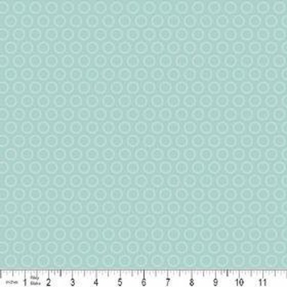 SALE Riley Blake All Star 2 FLANNEL Light Blue Cheery Circle 1 yard