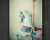 Unicorn Fairytale Carousel Horse Fine Art Photography Print IN STOCK