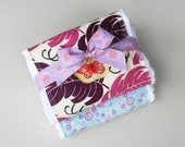 Butterfly Burp Set - Bundled Gift Set of Two