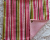 Pink Stripes on Pale Pink Fleece Hammock for Ferrets, Rats, Chinchillas, Sugar Gliders or Small Animals