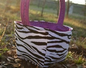 Zebra Print and Purple Easter Basket Ready To Ship