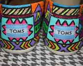 Custom Tribal Print Toms- Partial