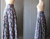 1970s vintage Blue Rose maxi skirt
