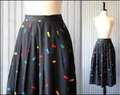 1970s vintage Confetti black skirt
