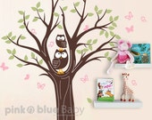 Wall Decals, Owls Tree Decal - Wall Decal, Sticker, Wall decor