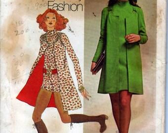 1971 Misses' Mini-Dress, Mini-Vest and Short Jumpsuit  Simplicity 9664  Size 10  Bust 32 1/2