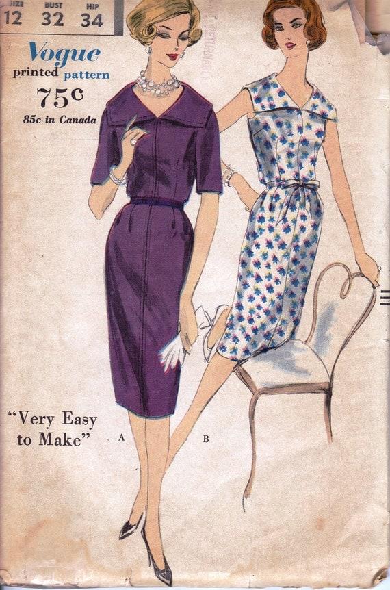 1960 Misses' Dress  Vogue 9951  Size 12  Bust 32