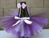 Baby Tutu Toddler Sugar Plum Tutu (Plum, Lavender & Purple) with Matching Headband