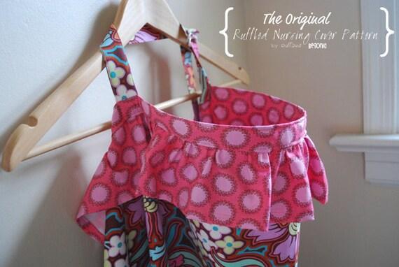 Ruffled Breastfeeding Apron Nursing Cover up PDF Sewing PATTERN (the ORIGINAL)