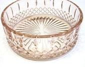 Stunning Pink  Bowl Cut Glass Dish