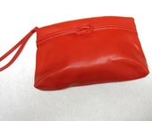 Cherry Red Purse Clutch 80s Wristlet Handbag