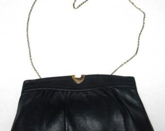Blue Purse Handbag Leather Ande Dark Navy Convertible Clutch Shoulderbag