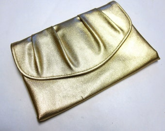 Gold Purse Metallic Clutch Shiny