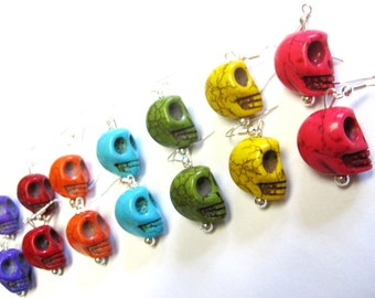 Sugar Skull Earrings 7 Pairs For Everyday of the Week Day of the Dead