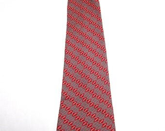 Red Gray Silver Necktie Clipon Clip On Neck Tie