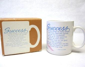 Vintage Hallmark Coffee Cup Success Still In Original Box