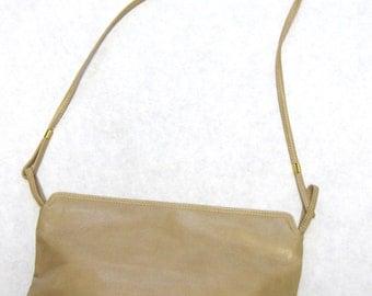 Desert Sand Brown Purse Hinged Handbag