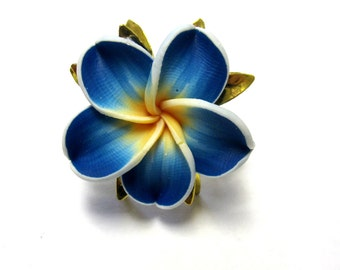 Blue Ring Floral Sweet Hibiscus Ring Flower