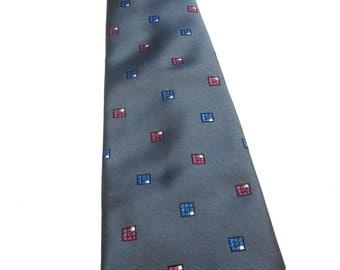 Grey Wembley Necktie Gray Rose Blue Neck Tie