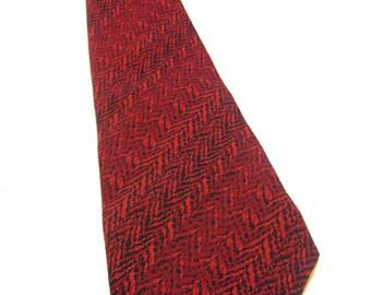 Red Necktie1950's Haband Mens' Neck Tie Wide Polyester