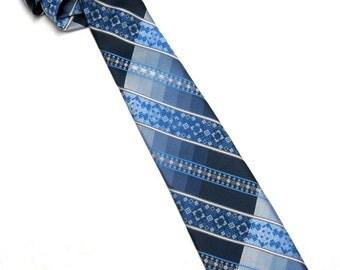 Blue Necktie Mens Neck Tie Starcy Cravats Of Distinction