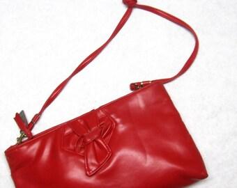 Lipstick Red Purse Shoulderbag Handbag