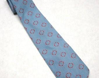 Blue Red Necktie Vintage Neck Tie Blue Red