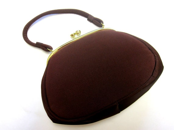 Brown Purse Handbag Stylemark Velveteen