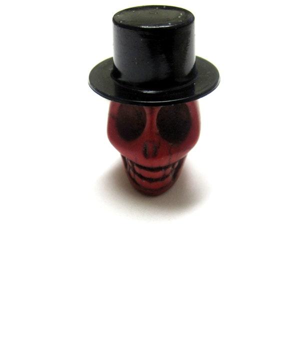 Sugar Skull Ring Mr Sleek Rockabilly Day of The Dead Jewelry