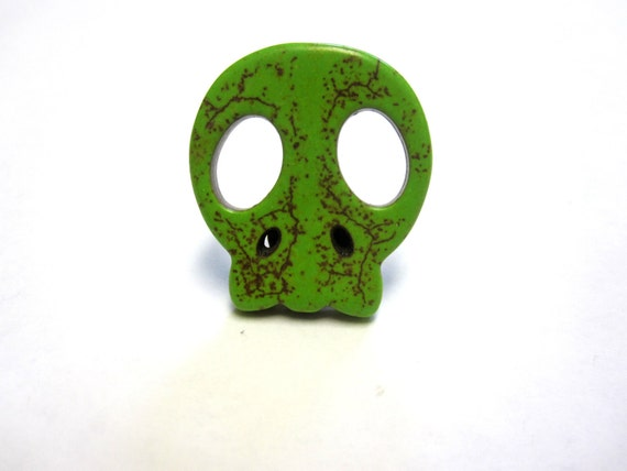 Day of The Dead Jewelry Sugar Skull Tie Tac Zombie Lime Green