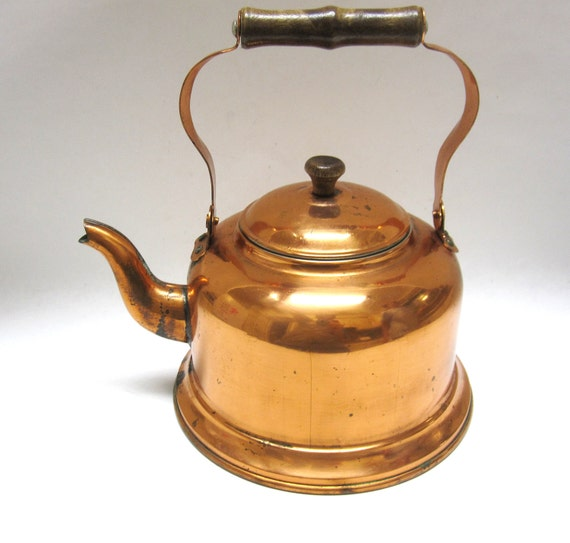 Vintage Copper Teapot 108