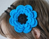 3 Strand Crochet Headband - Made to Order with Flower, Pinwheel, Bow, Ribbon, Applique